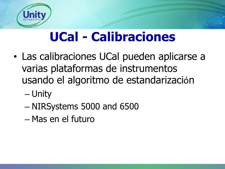 UCal - Calibraciones