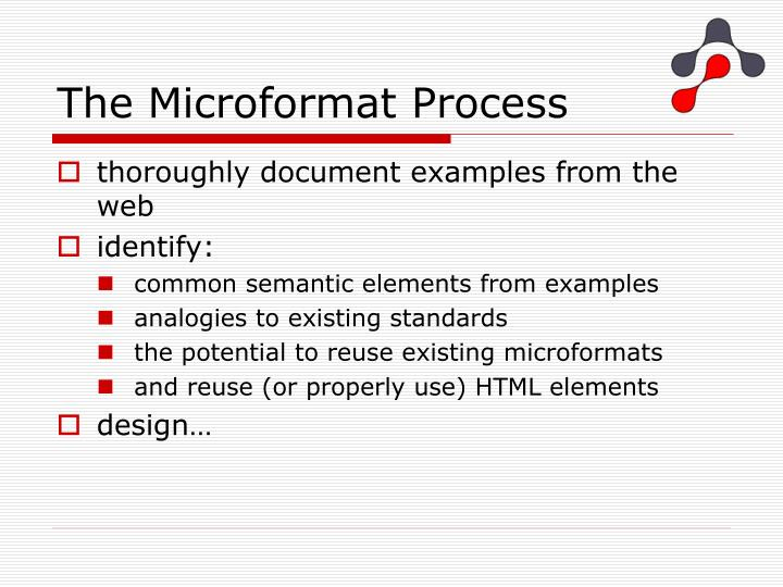 The Microformat Process