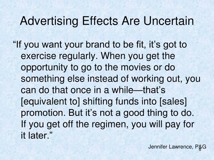 Advertising Effects Are Uncertain