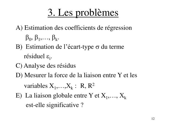 3. Les problèmes