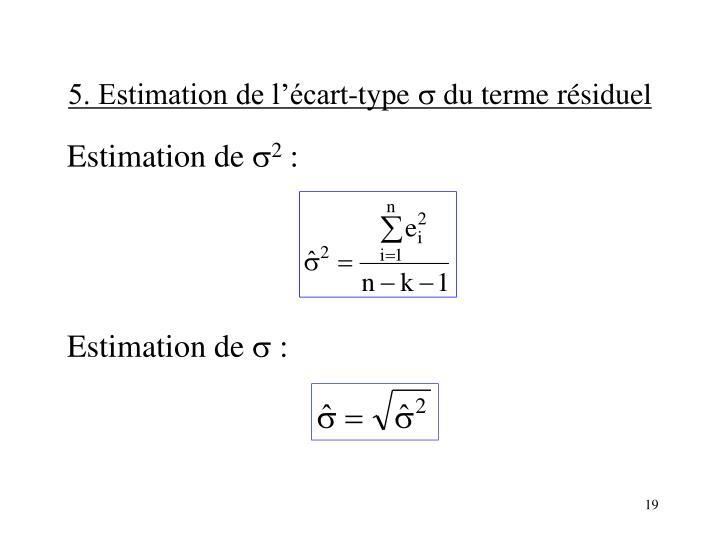 5. Estimation de l'écart-type