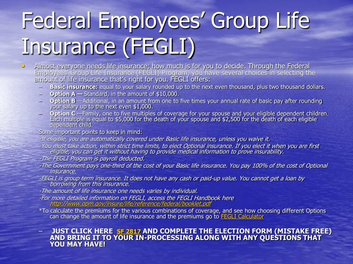 Federal Employees' Group Life Insurance (FEGLI)