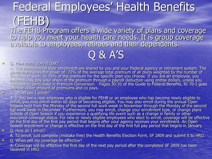 Federal Employees' Health Benefits (FEHB)