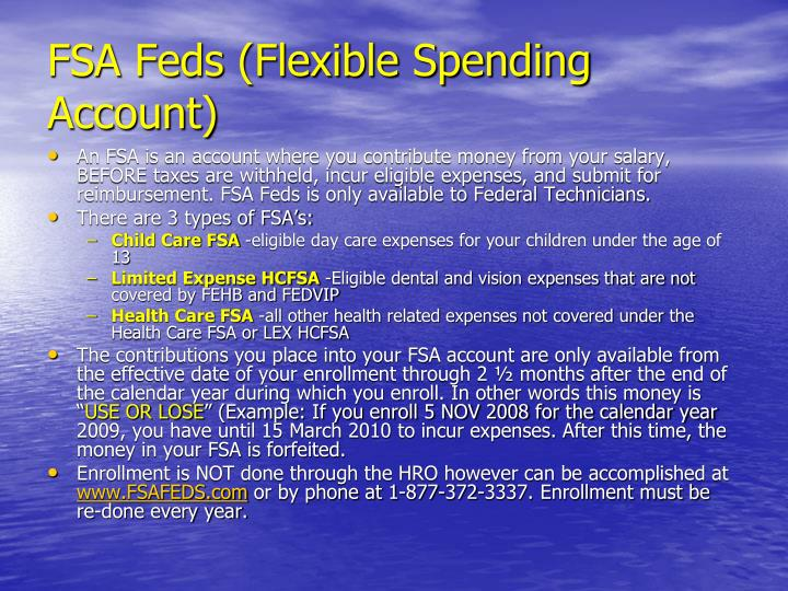 FSA Feds (Flexible Spending Account)