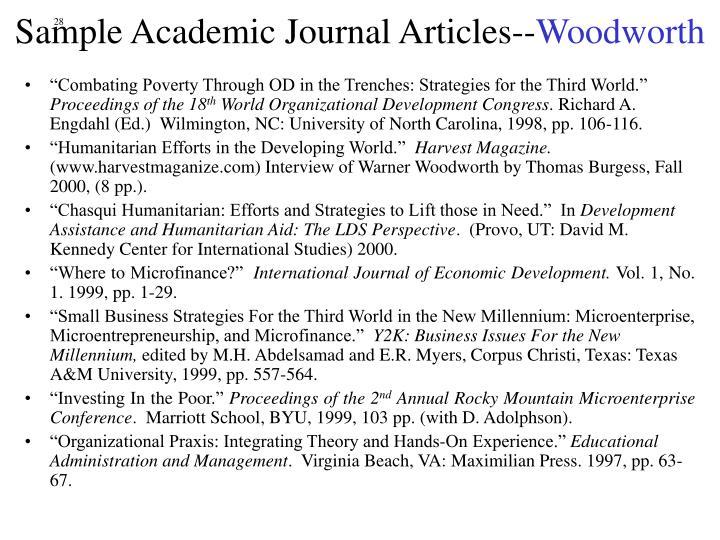 Sample Academic Journal Articles--