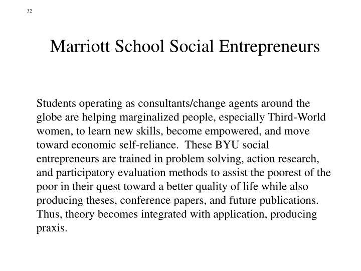 Marriott School Social Entrepreneurs