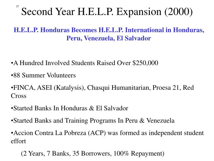 Second Year H.E.L.P. Expansion (2000)