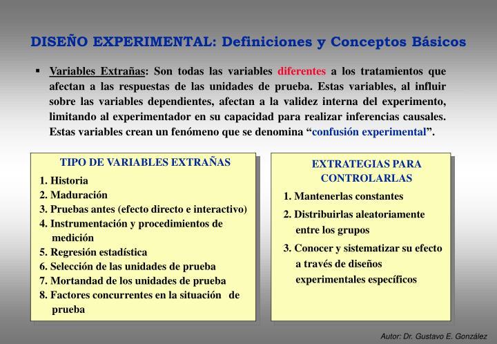 Variables Extrañas