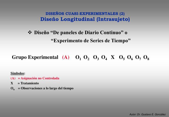 "Diseño ""De paneles de Diario Continuo"" o         ""Experimento de Series de Tiempo"""