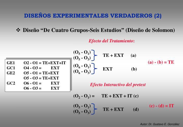 """Diseño """"De Cuatro Grupos-Seis Estudios"""" (Diseño de Solomon)"""