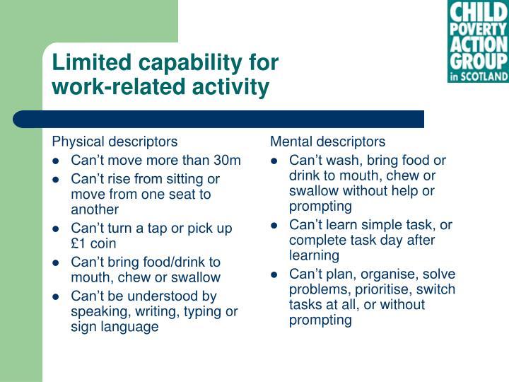 Physical descriptors