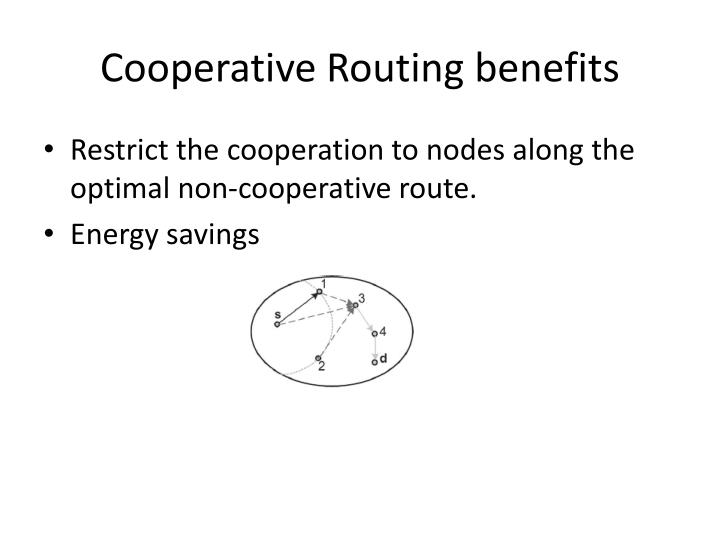 Cooperative Routing benefits