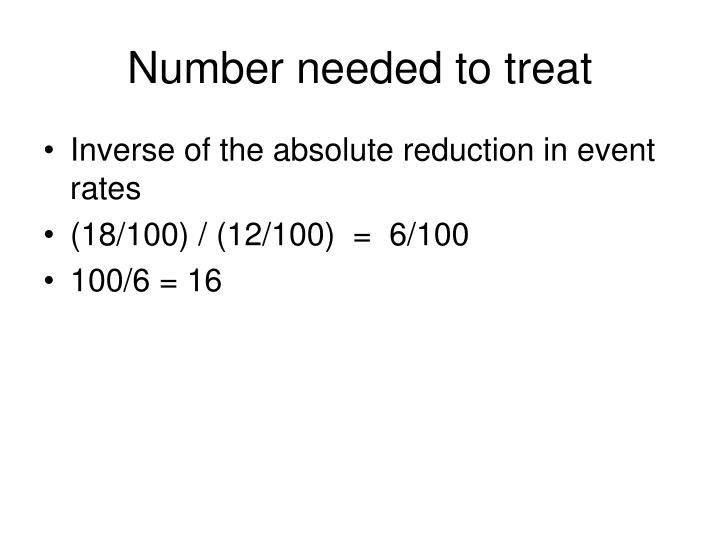 Number needed to treat