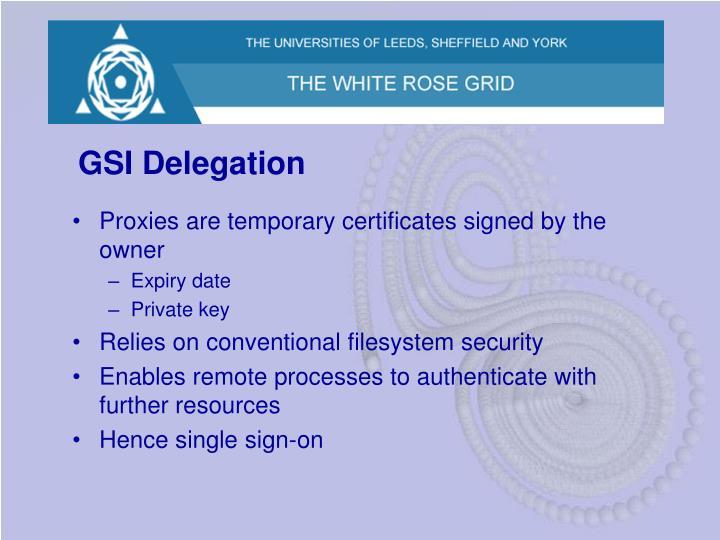 GSI Delegation
