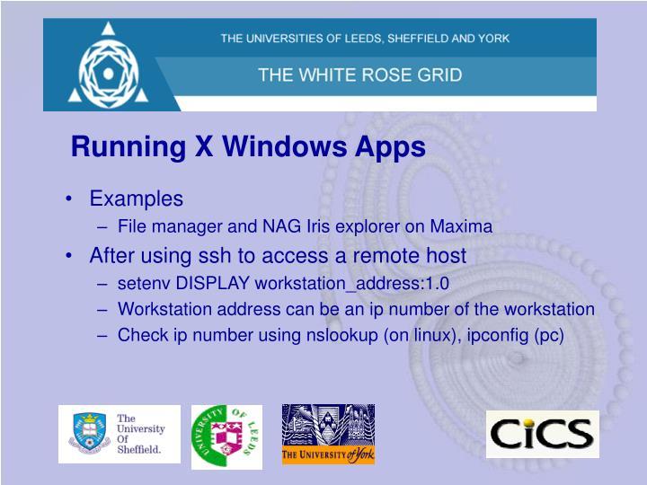 Running X Windows Apps
