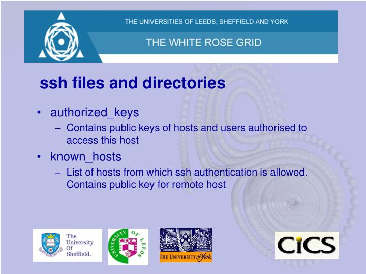 ssh files and directories