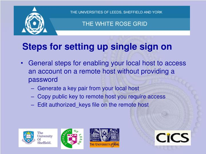 Steps for setting up single sign on