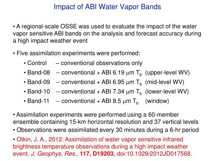Impact of ABI Water Vapor Bands