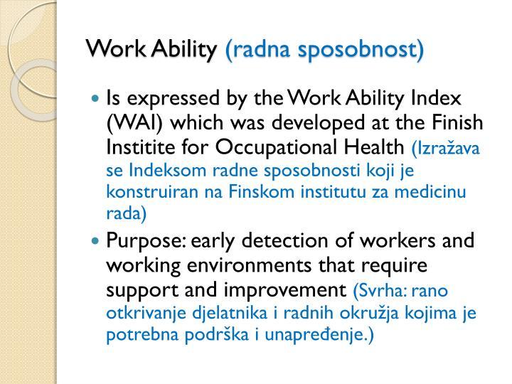 Work Ability