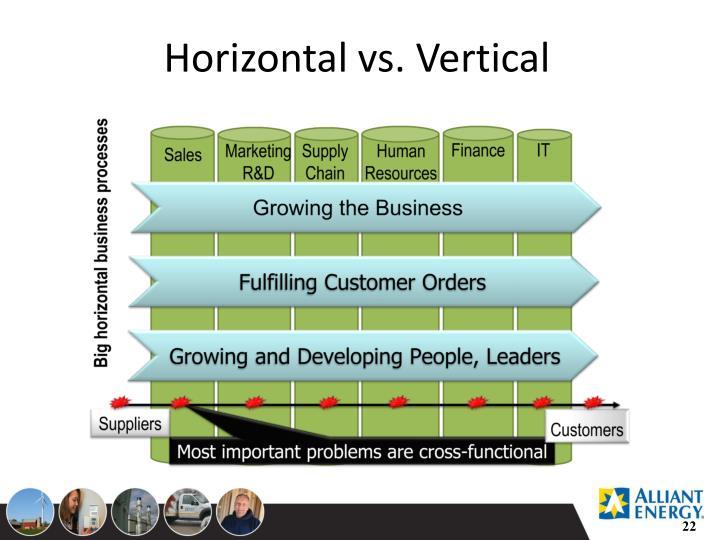 Horizontal vs. Vertical