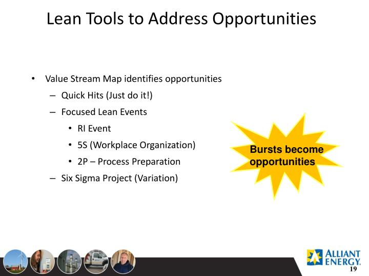 Lean Tools to Address Opportunities