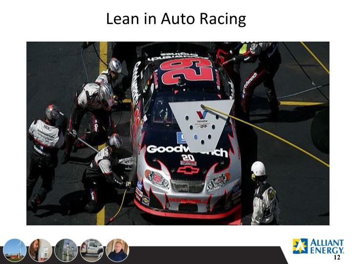 Lean in Auto Racing