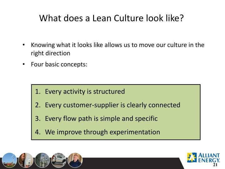 What does a Lean Culture look like?