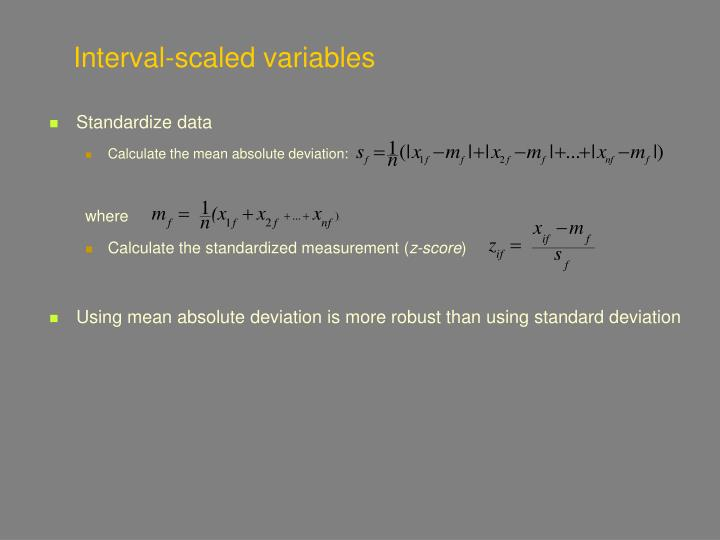 Interval-scaled variables