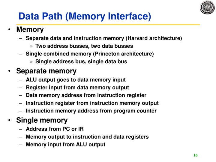 Data Path (Memory Interface)