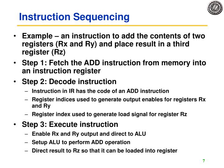 Instruction Sequencing