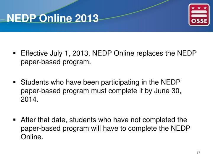 NEDP Online 2013