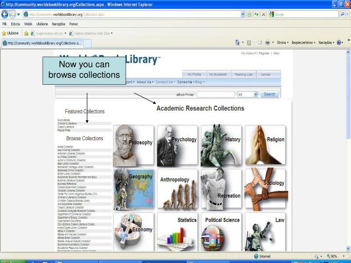 Now you can browse collections