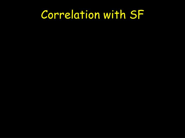 Correlation with SF