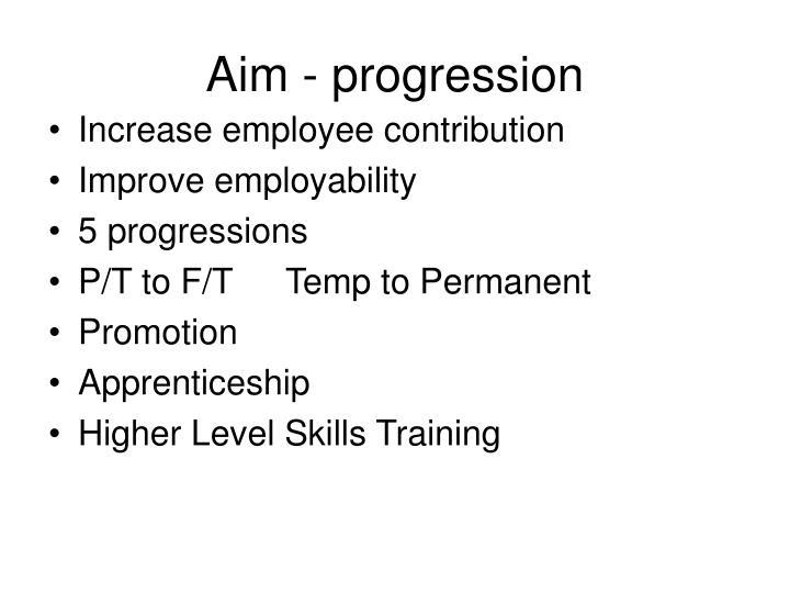 Aim - progression