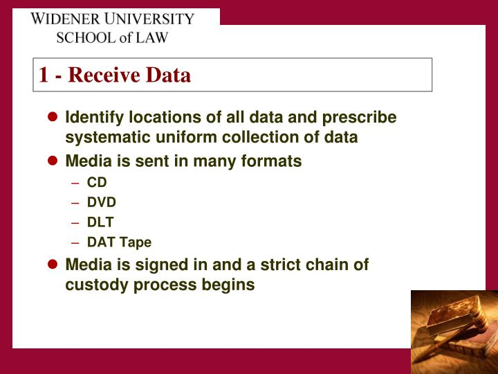 Identify locations of all data and prescribe systematic uniform collection of data