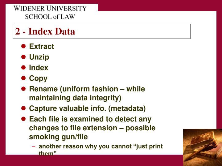 2 - Index Data