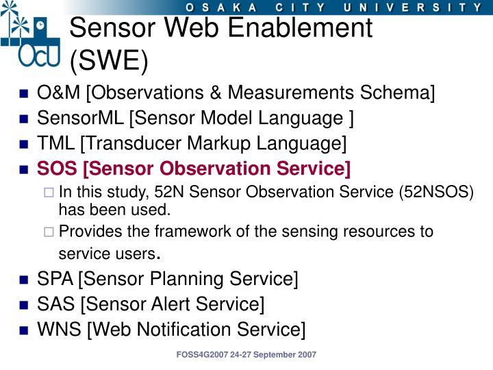 Sensor Web Enablement (SWE)