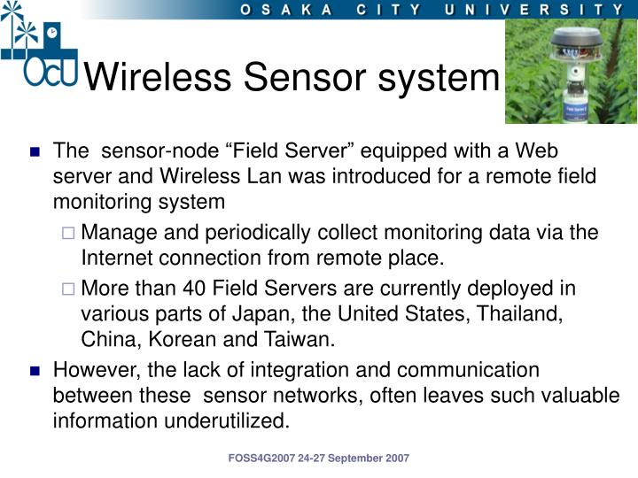 Wireless Sensor system