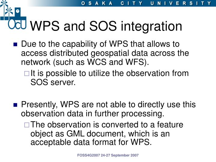 WPS and SOS integration