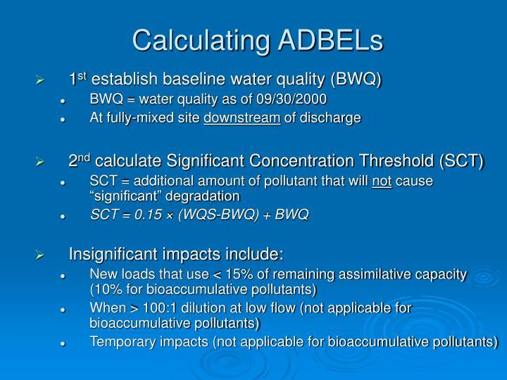 Calculating ADBELs