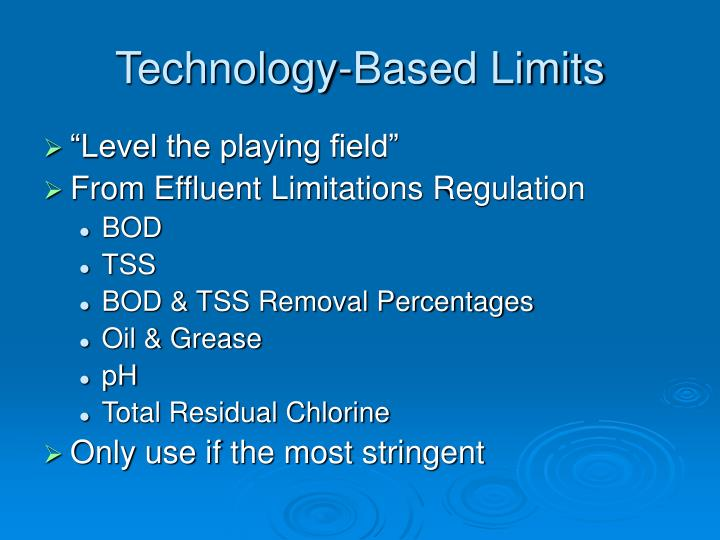 Technology-Based Limits