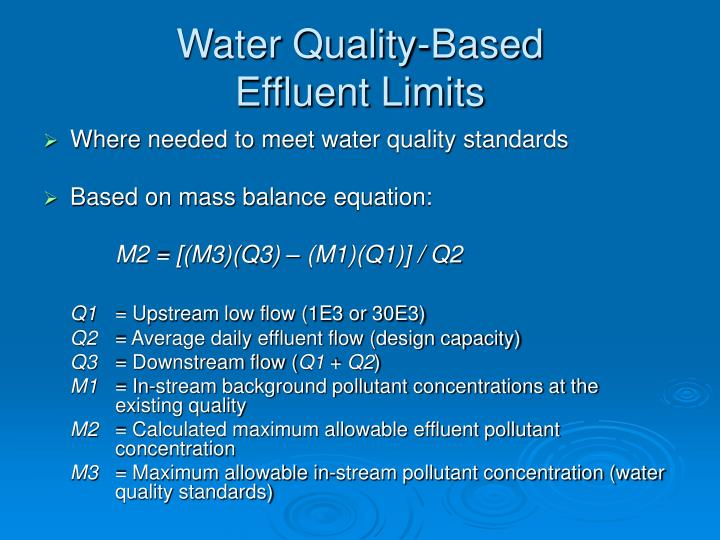 Water Quality-Based