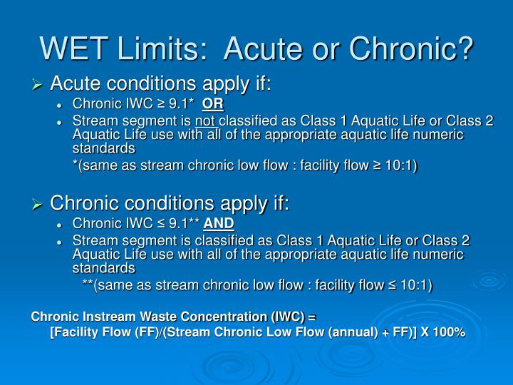 WET Limits:  Acute or Chronic?