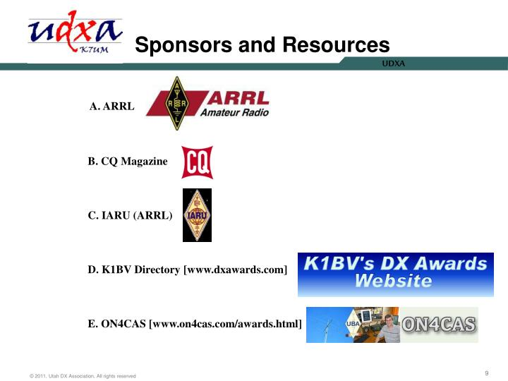 Sponsors and Resources