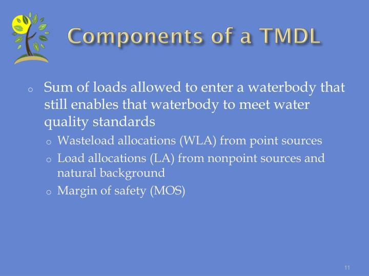 Components of a TMDL