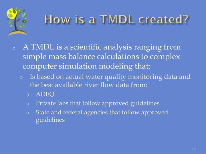 How is a TMDL created?
