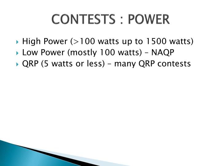 CONTESTS : POWER