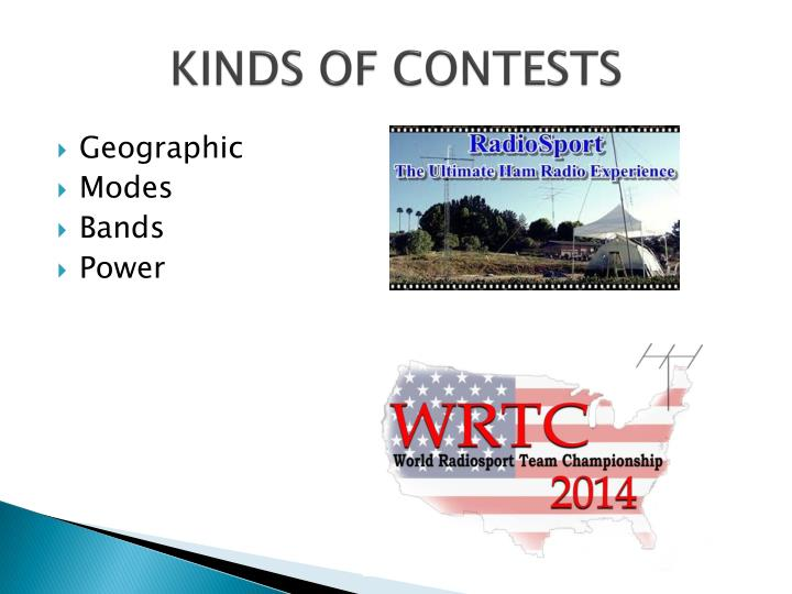 KINDS OF CONTESTS