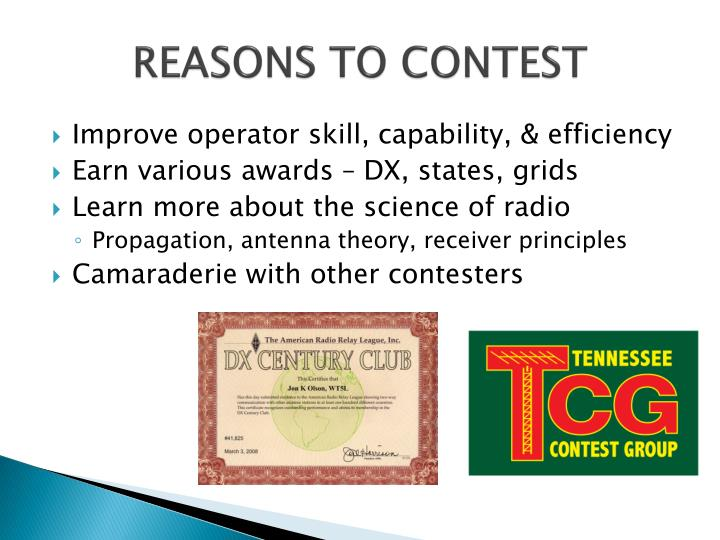 REASONS TO CONTEST