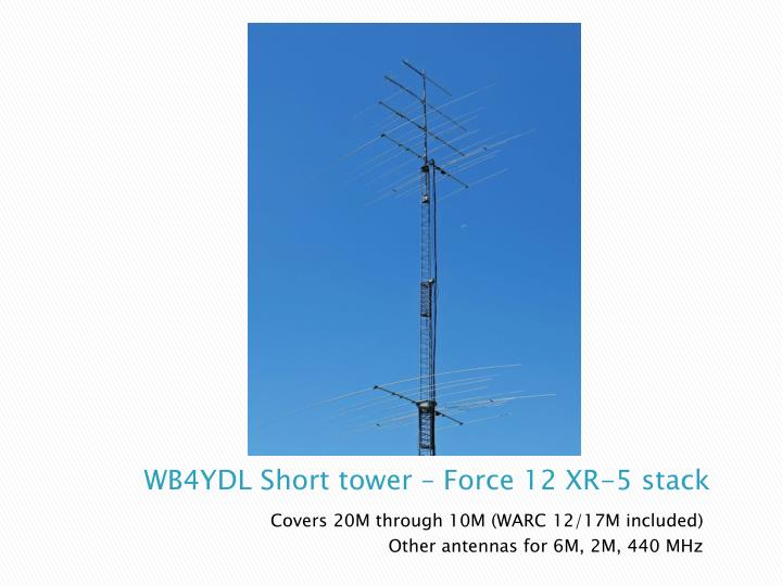 WB4YDL Short tower – Force 12 XR-5 stack